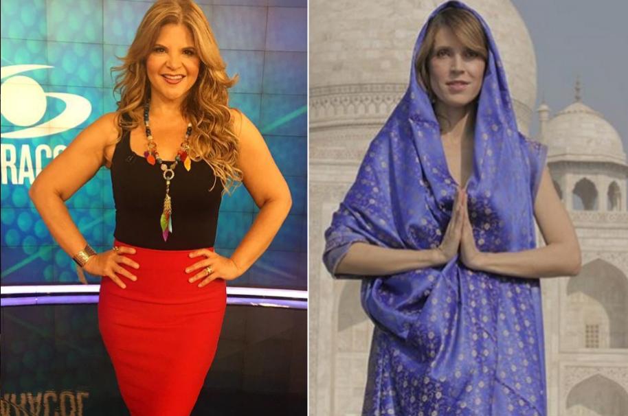 Diva Jessurum, presentadora de Noticias Caracol, y Alejandra Azcárate, actriz, presentadora y politóloga.