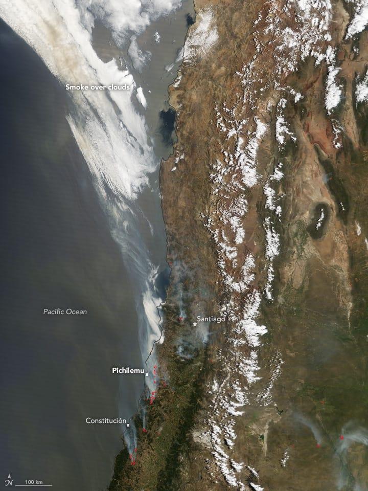 Incendios en Chile