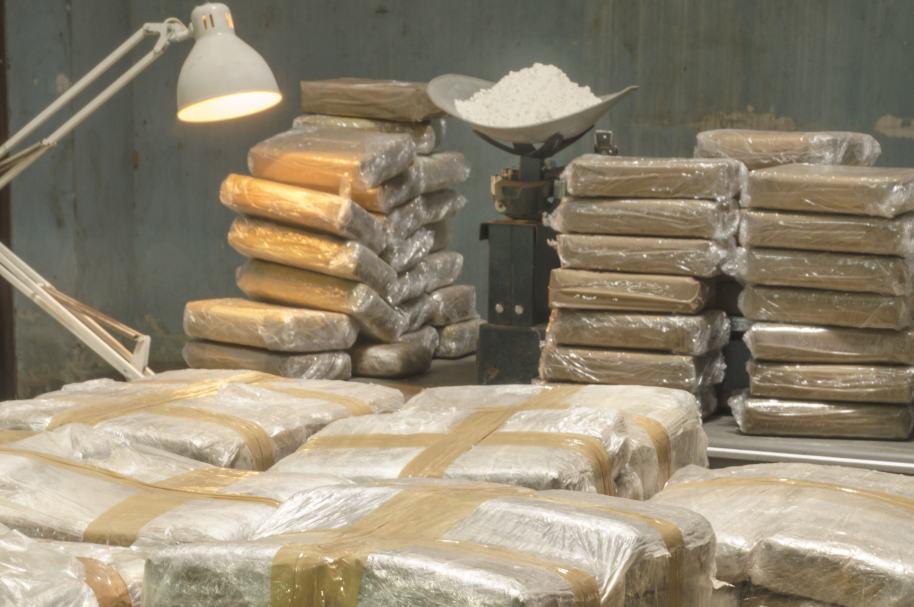Carga de cocaína lista para ser exportada