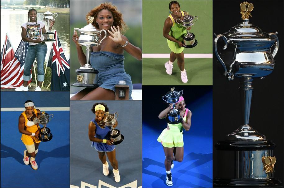 Los siete trofeos de Serena Williams en Australia