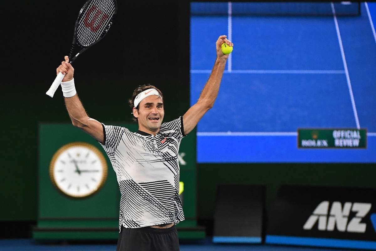 Roger Federer, campeón del Abierto de Australia.
