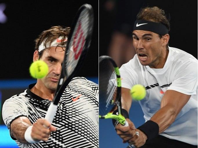 Roger Federer y Rafael Nadal, en la final del Abierto de Australia.