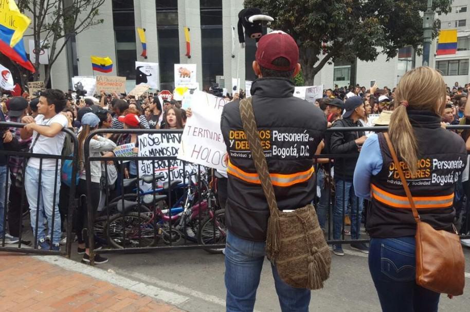 Antitaurinos en Bogotá