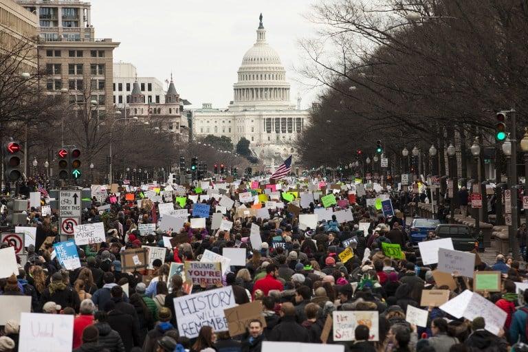 Protesta en l Casa Blanca