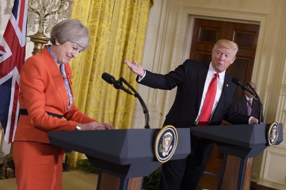 Trump y May en la Casa Blanca