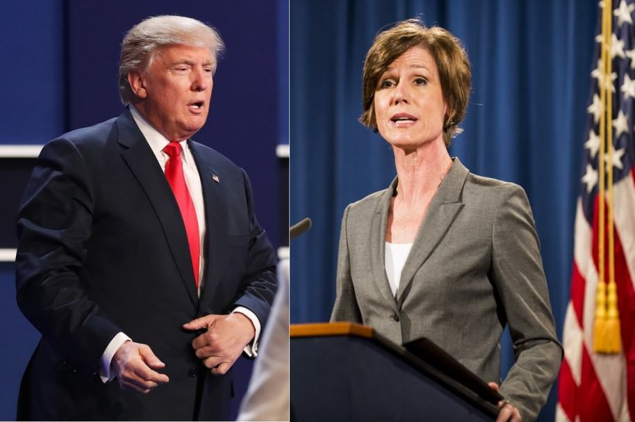 Trump y Fiscal Sally Yates