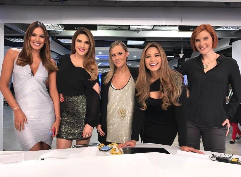 Catalina Robayo, Ana Karina Soto, Eva Rey, Melissa Martínez y Margarita Ortega, presentadoras de RCN.