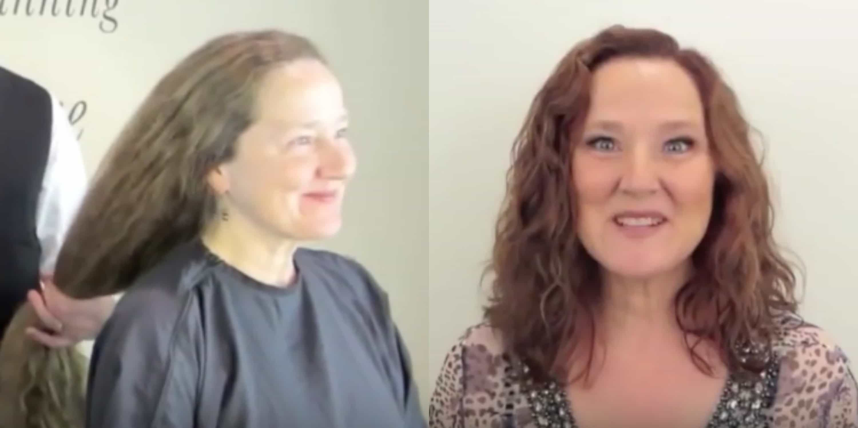 Mujer se corta el pelo después de 20 años
