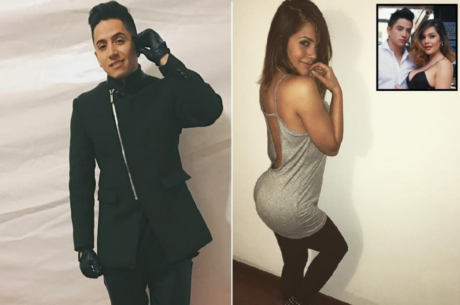 Andy Rivera, cantante urbano, y su novia Lina Tejeiro, actriz de 'La ley del corazón'.