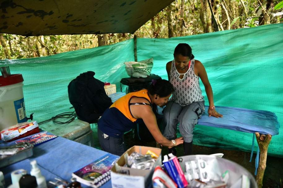 Guerrillera embarazada en  Guaviare