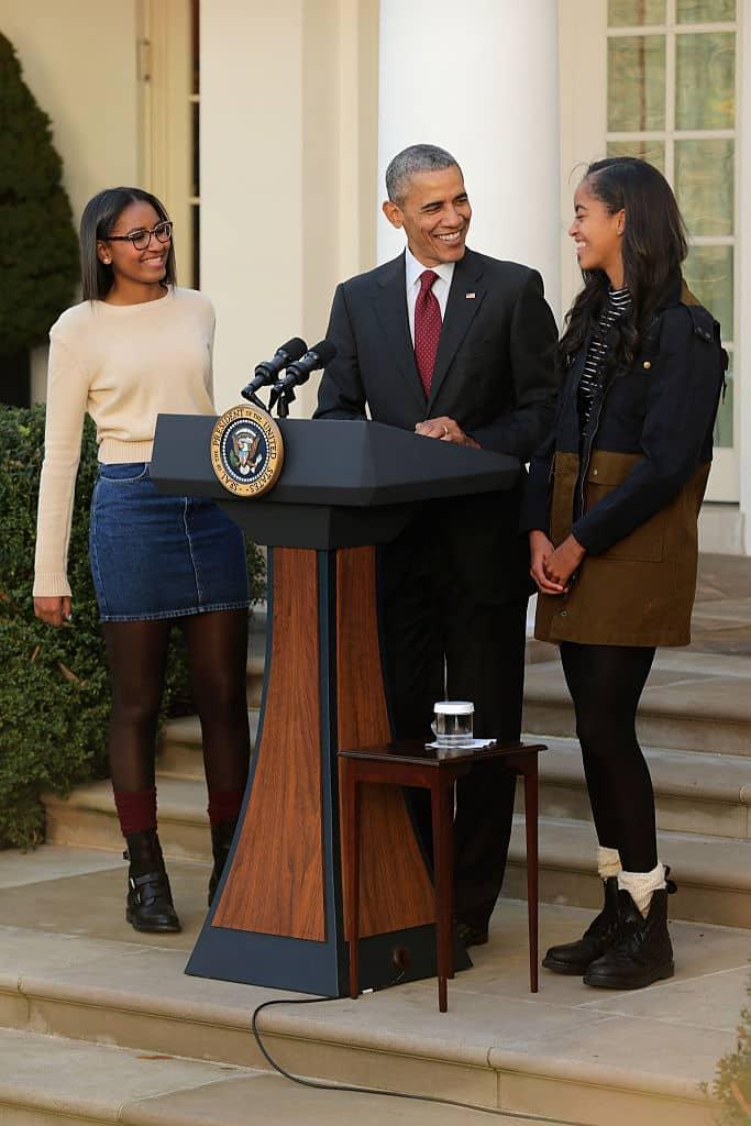 Sasha, Barack y Malia Obama