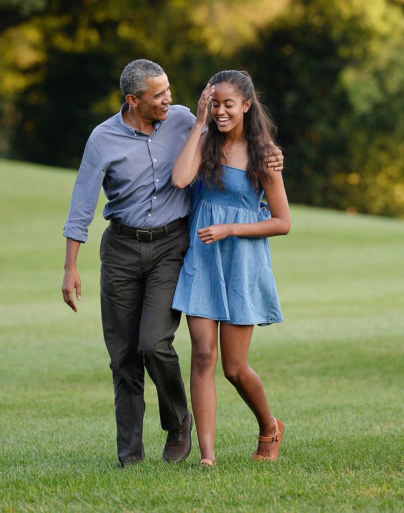 Barack y Malia Obama
