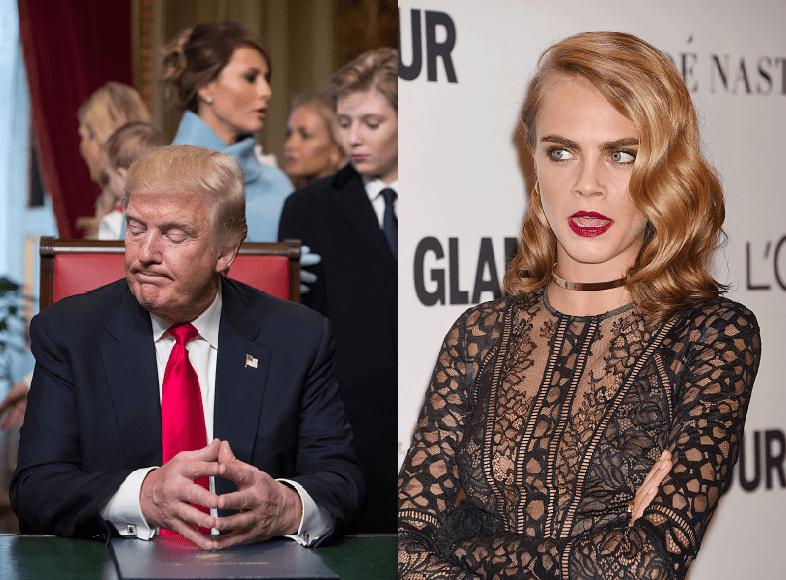 Donal Trump - Cara Delevingne