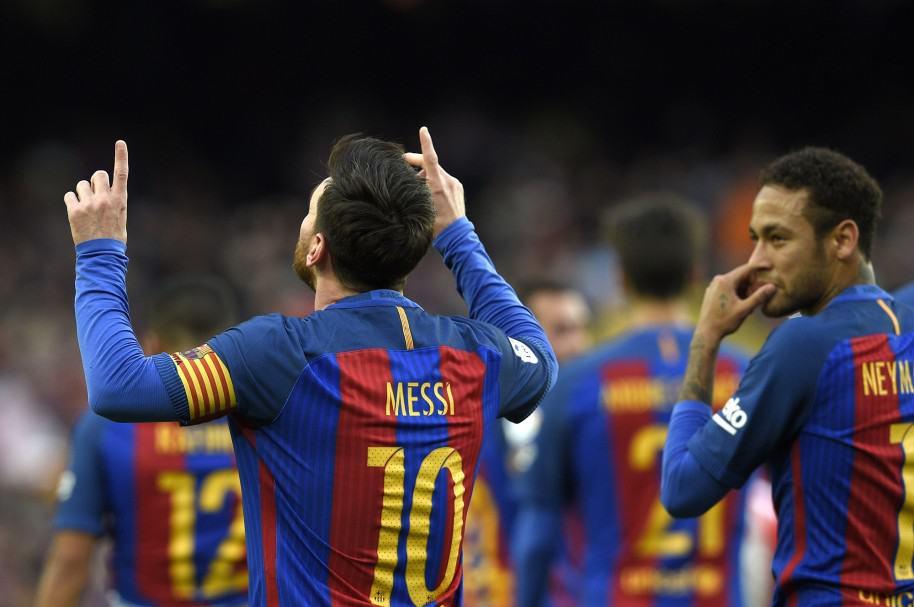 Messi con el Barcelona