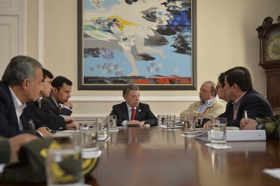 Presidente Juan Manuel Santos y el Gabinete para el posconflicto.