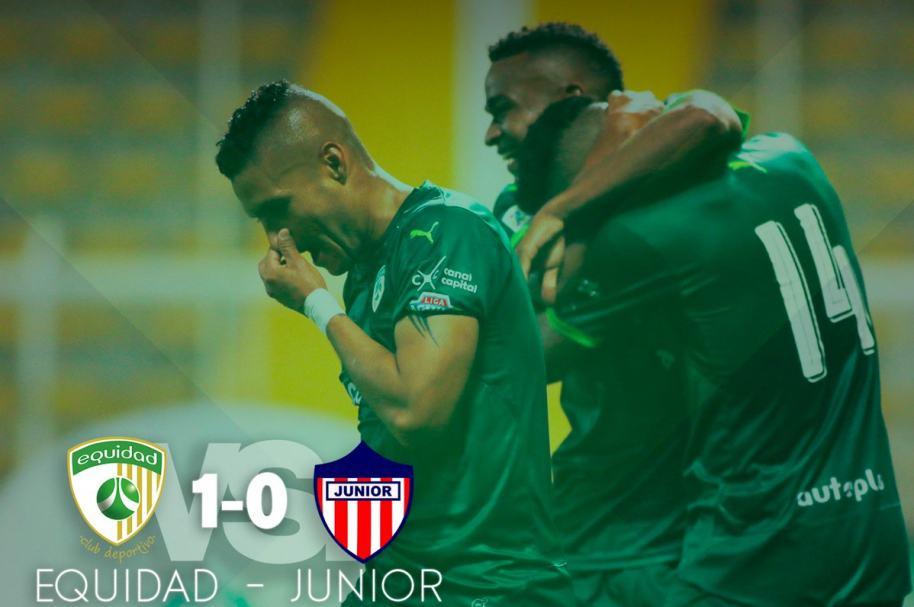 Equidad derrotó a Junior con gol de Diego Valoyes
