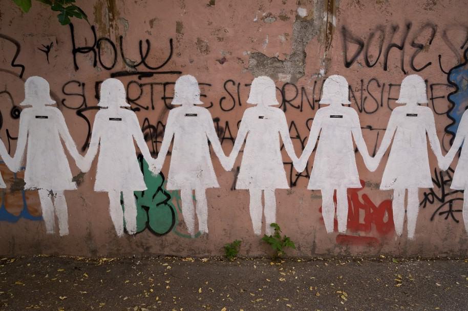 Mural que denuncia el maltrato hacia las mujeres.