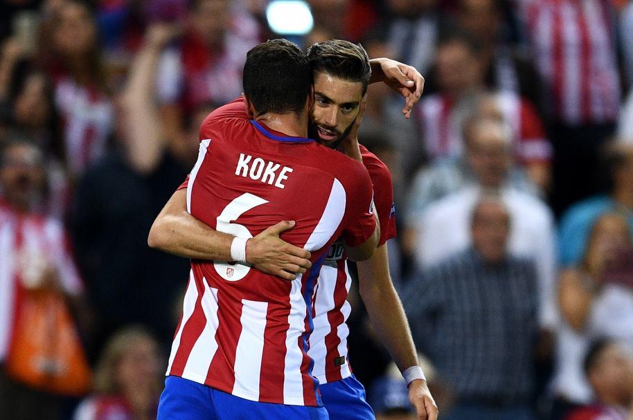 Ferreira Carrasco y Koke del Atlético Madrid