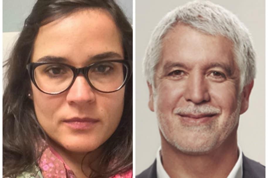 Carolina Sanin  y Enrique Peñalosa