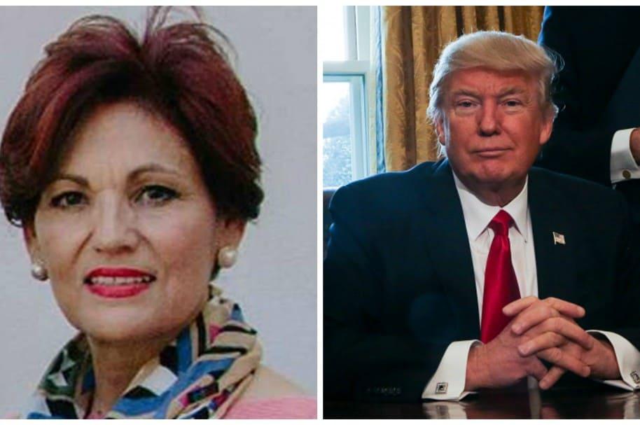 Alma Siller Contreras y Donald Trump