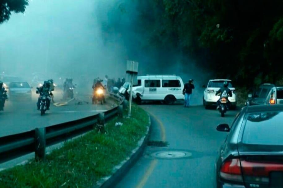 Accidente vía Las Palmas, en Medellín
