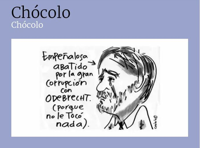 Caricatura creada por Chócolo