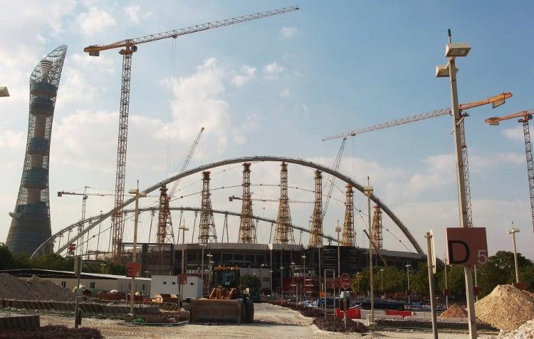 Obras en el Khalifa Stadium de Doha, Catar