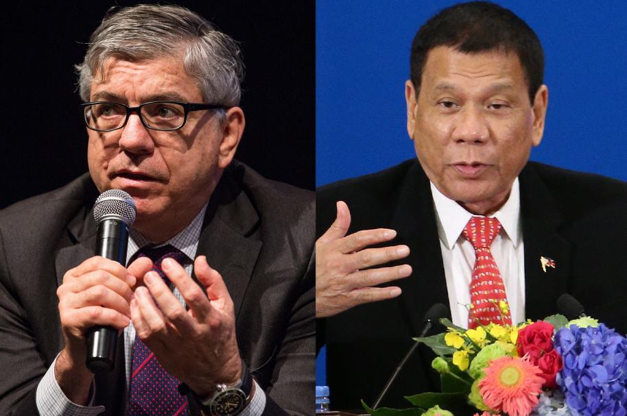 César Gaviria y Rodrigo Duterte