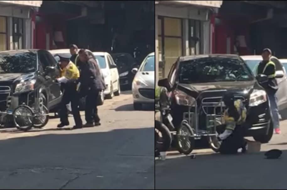 Policía es arrollada en Ciudad de México.
