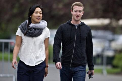 Priscilla Chang y Mark Zuckerberg