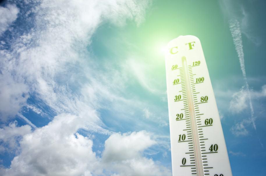 Termómetro registra altas temperaturas