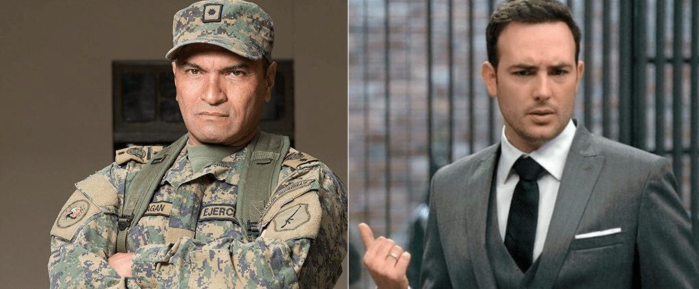 Los actores Diego Vásquez y Sebastián Martínez.