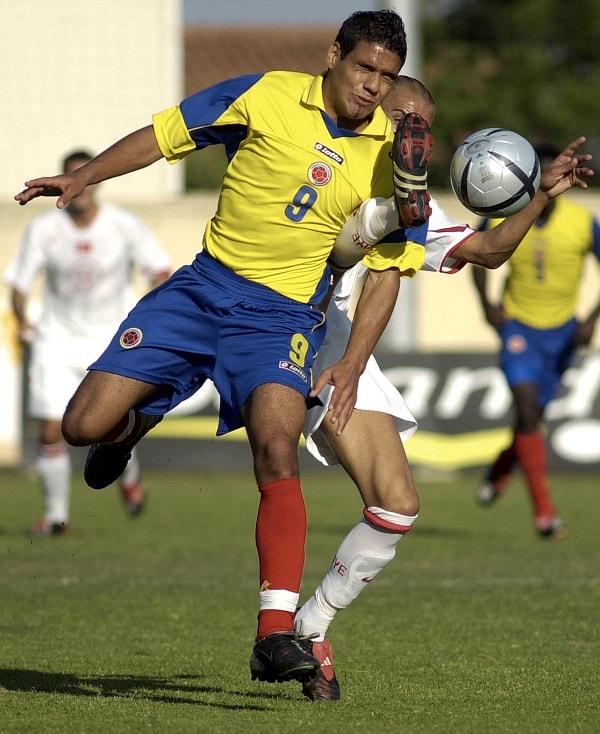 Falcao García en la Selección Colombia (2004).