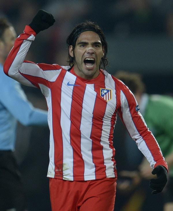Falcao en Atlético de Madrid (2012).