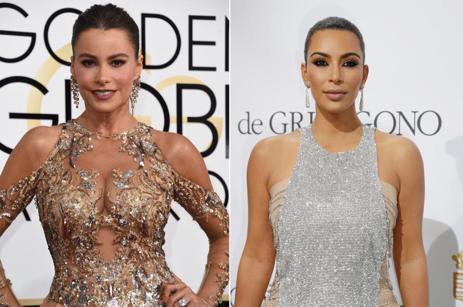 La actriz Sofía Vergara y la empresaria Kim Kardashian.