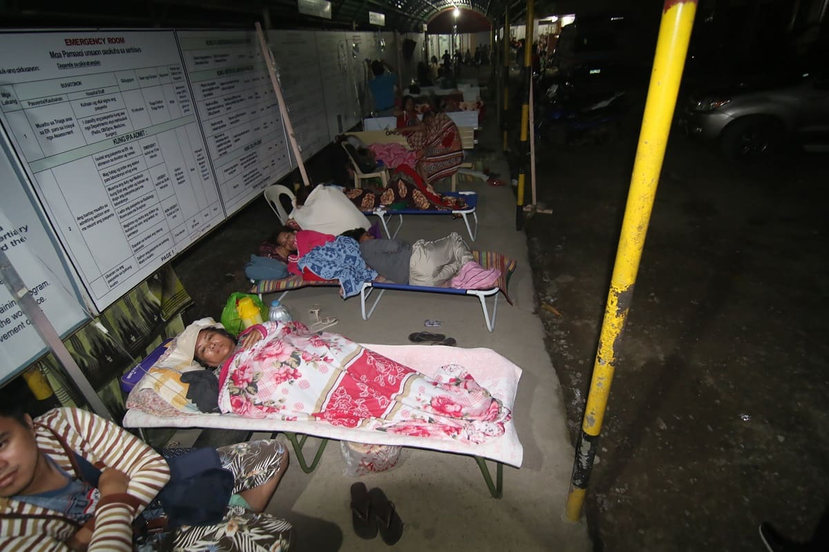 Víctimas del terremoto en Filipinas