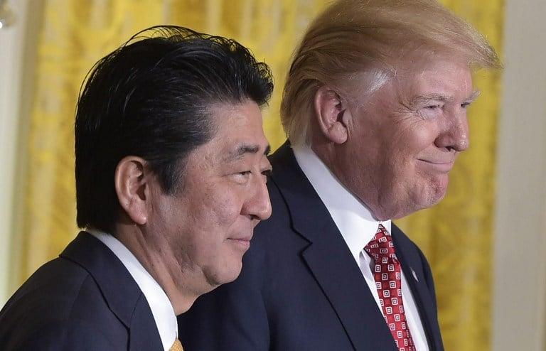 Donald Trump y Shinzo Abe. Pulzo.com
