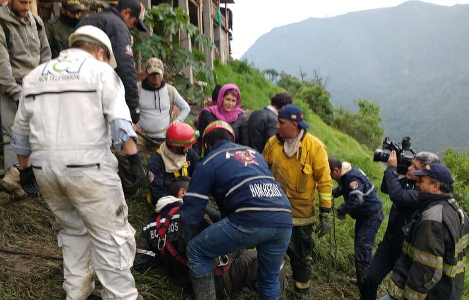 Rescate a integrantes del programa 'Ellos están aquí'