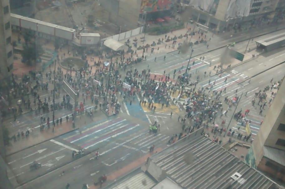 Bloqueos en la Avenida Jiménez