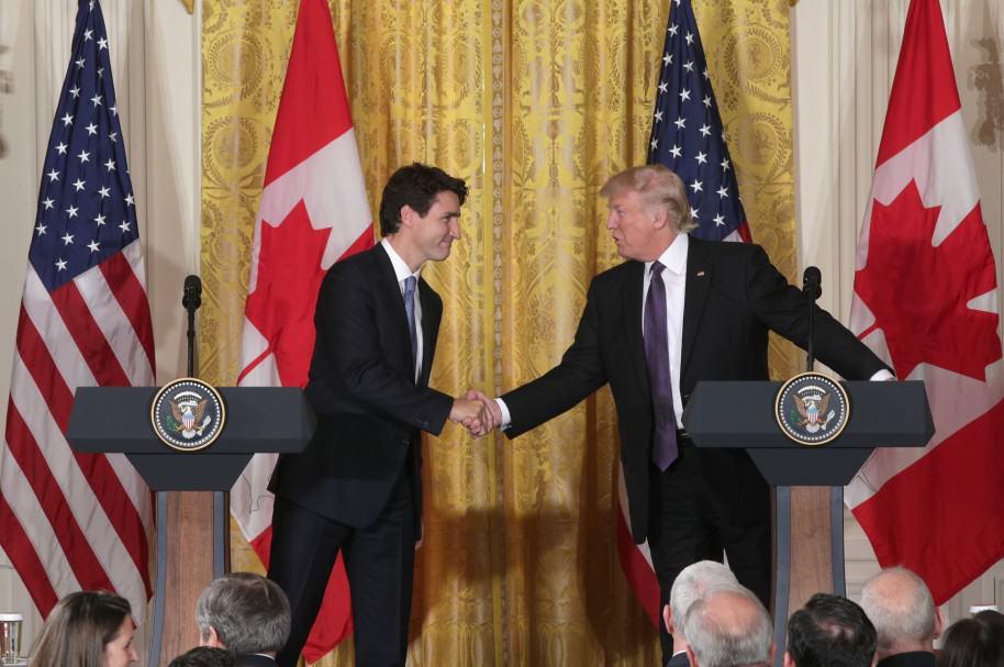 Donald Trump y Justin Trudeau