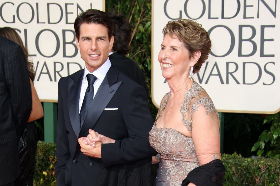 Tom Cruise y su mamá Mary Lee South