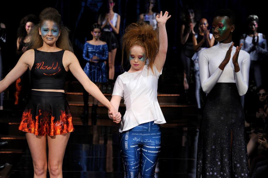 Madeline Stuart en la Semana de la Moda de Nueva York
