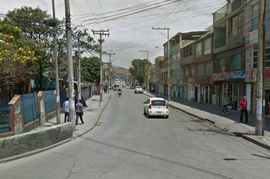 Localida de Ciudad Bolívar, sur de Bogotá