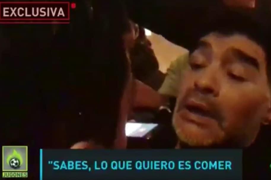 Maradona en Madrid
