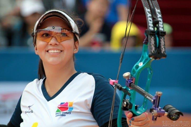 Sara López, campeona mundial de arquería