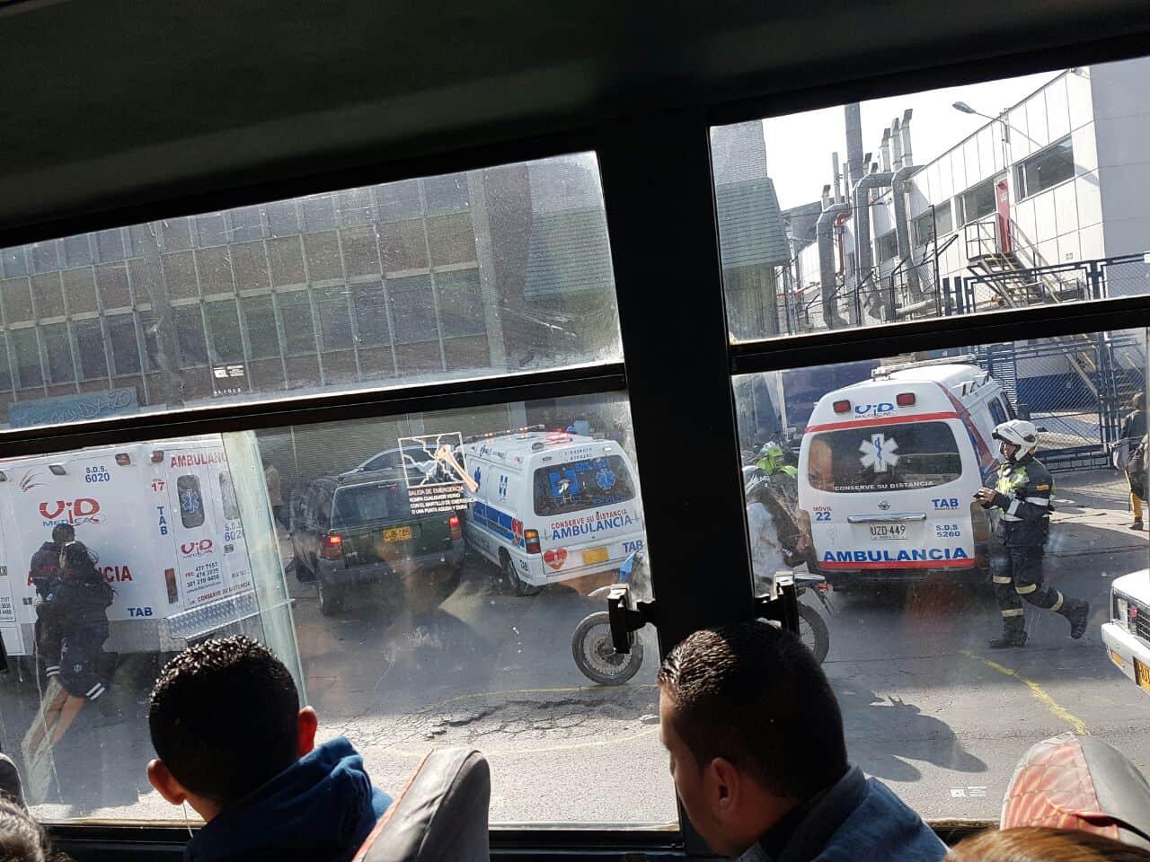 Choque de buses del SITP en Puente Aranda