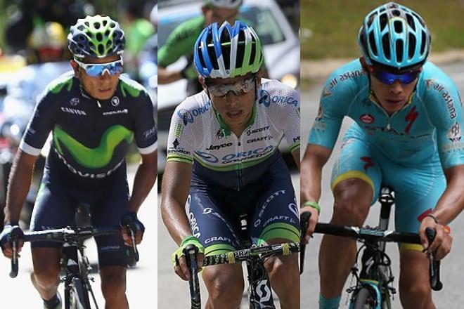 Nairo Quintana, Esteban Cháves y Miguel Ángel López