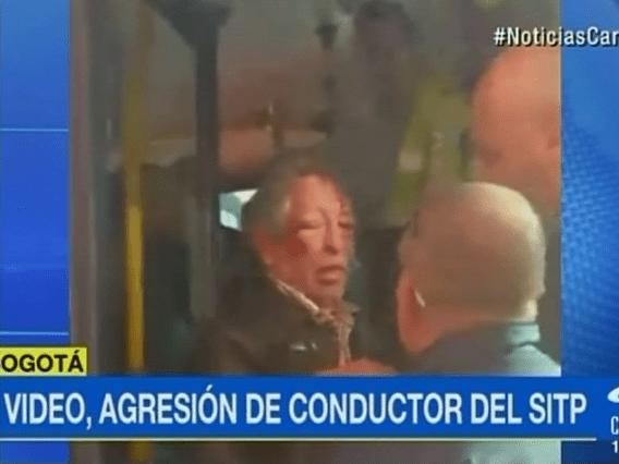 Pasajero agredido en bus del SITP. Pulzo.com