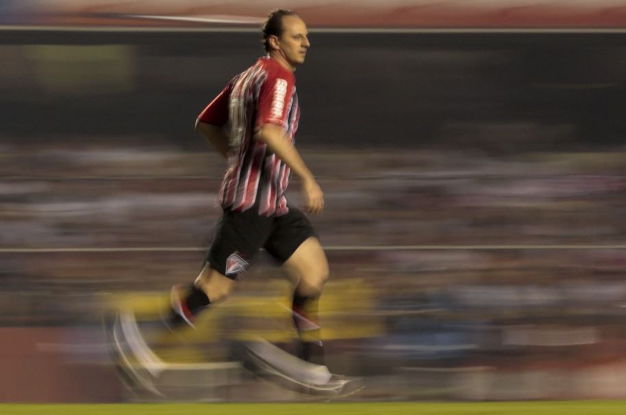 Rogerio Ceni, durante un partido amistoso