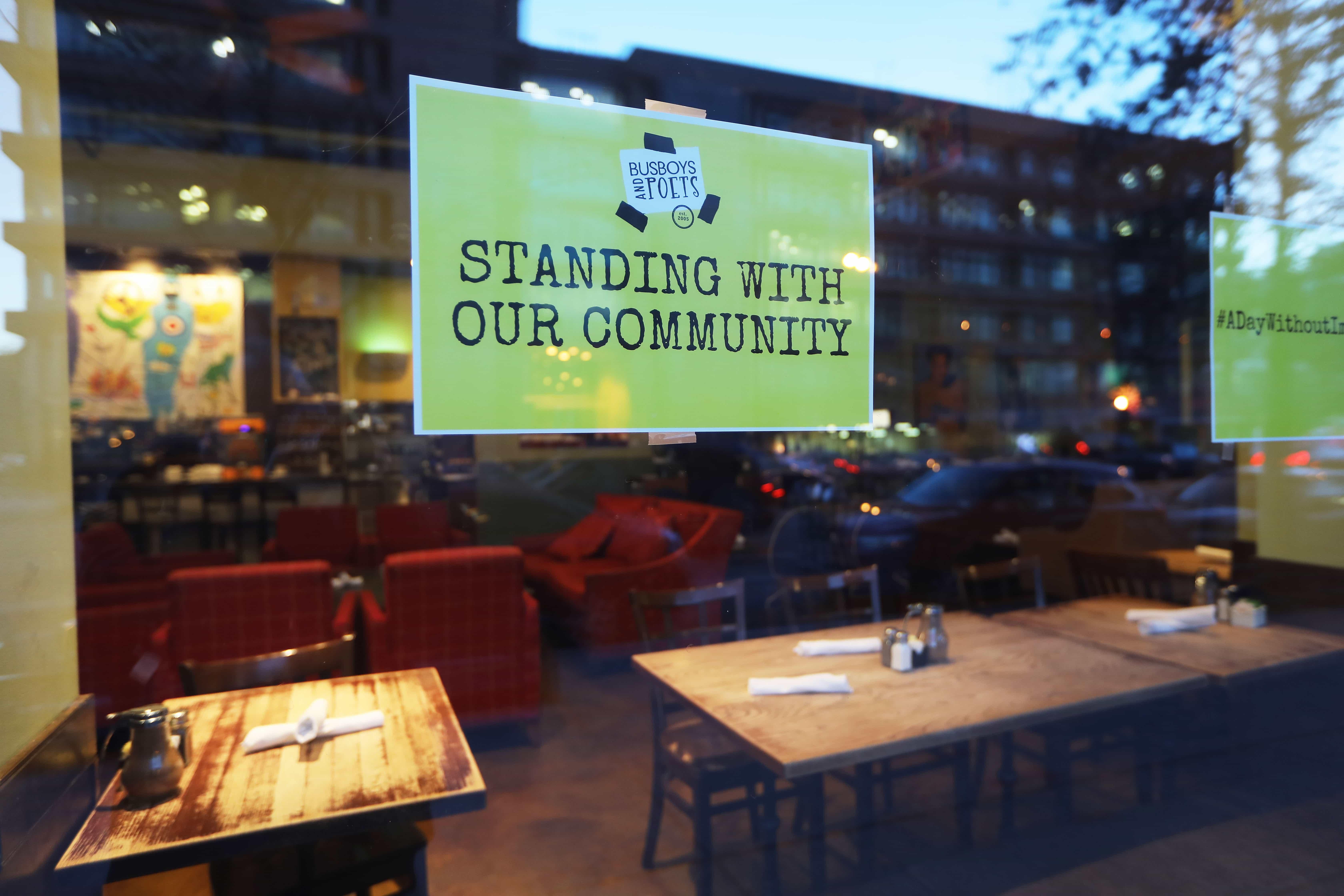 Restaurante cerrado en Washington